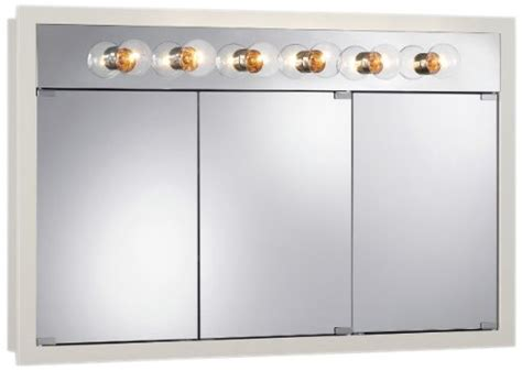 jensen 755387 granville lighted medicine cabinet with six