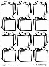 Gift Boxes Tags Printable Coloring Printables Presents Printcolorfun Decorations sketch template