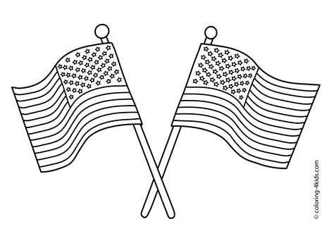 usa flags coloring pages usa independence day