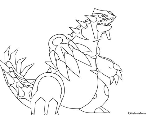 Groudon Kleurplaat by Groudon Coloring Pages Coloring Home