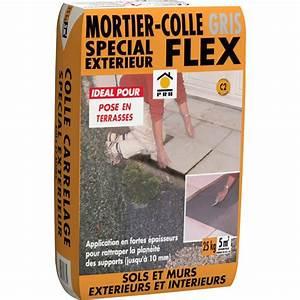 Colle Carrelage Exterieur Flex : mortier colle ext rieur gris prb 25kg leroy merlin ~ Nature-et-papiers.com Idées de Décoration