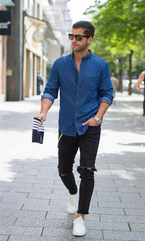 25+ Best Ideas about Ripped Jeans Men on Pinterest   Ripped jeans mens fashion Mens casual ...