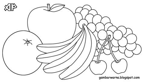 gambar mewarnai anak buah buahan mewarnai buah
