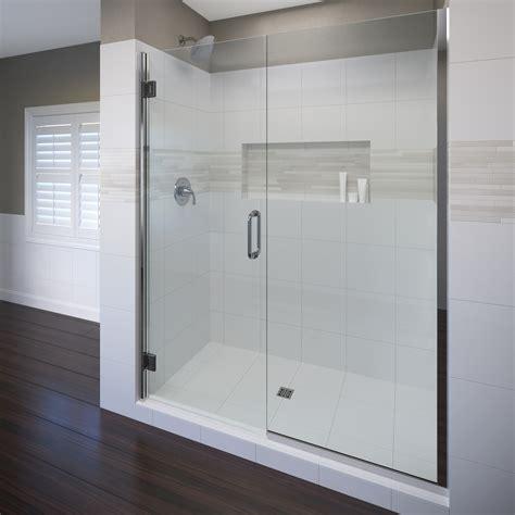60 inch shower door coppia frameless 3 8 inch glass swing door basco 3934