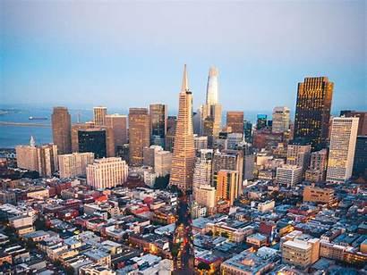 Francisco San Aerial Metropolis Usa Overview Background