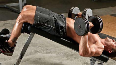 Decline Bench Grip Triceps Press by Decline Dumbbell Bench Press Bodybuilding Wizard