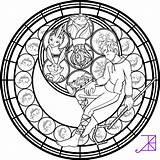 Coloring Stained Glass Frost Amethyst Beast Jack Beauty Akili Deviantart Adult Disney Mandala Cross Colorear Rose Drawing Anime Stain Transparent sketch template