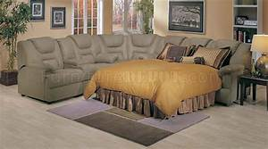 4 5000 home theater sectional sofa w pull out bed by acme With home theatre style sectional sofa with pull out bed
