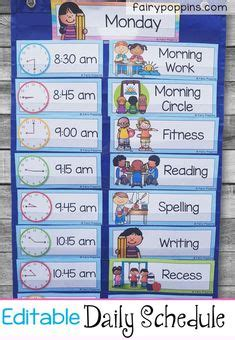 daily schedule kids images daily schedule kids