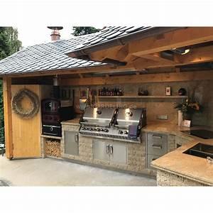 Grill überdachung Holz : luxuri se au enk che mit napoleon bipro825 gasgrill teppanyaki grill mit holz und berdachung ~ Buech-reservation.com Haus und Dekorationen