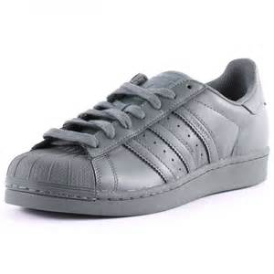 All Grey Adidas Superstar Shoes