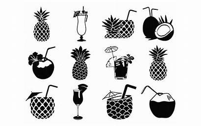 Svg Pina Drink Tropical Colada Clipart Cricut