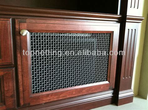 decorative metal screen for cabinets stainless steel flat wire woven mesh screen cabinets