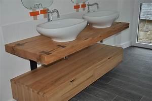 salle de bain plan travail vasque 2017 et plan de travail With plan de travail en bois pour salle de bain