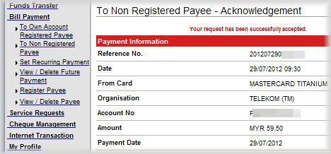 pay tm bill streamyx bill   credit card