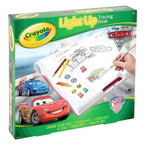 light board for kids crayola cars 2 light up tracing drawing desk childrens