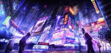 Neon Anime Wallpaper - cyberpunk futuristic neon hd wallpapers desktop and