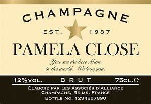 personalized champagne label With champagne bottle stickers