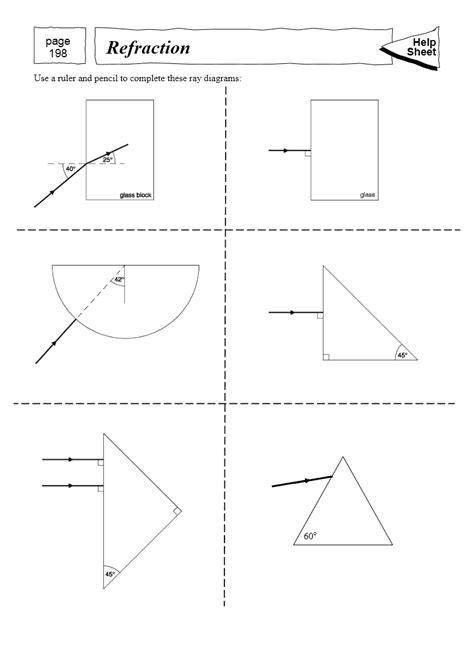 worksheets refraction worksheet opossumsoft worksheets