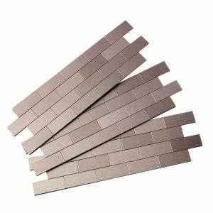 Aspect Subway Matted 12 in. x 4 in. Metal Decorative Tile ...