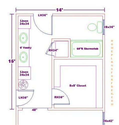 master closet and bath floor plan ideas master