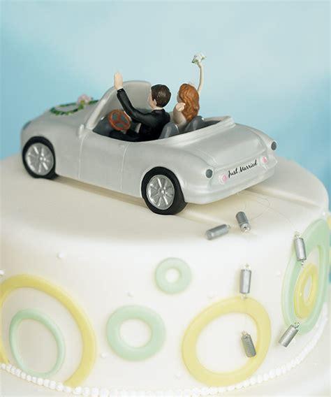bald groom cake topper car cake toppers