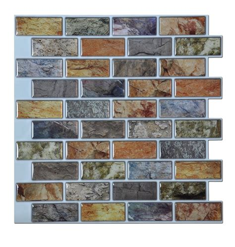 stick on backsplash tiles for kitchen art3d peel stick bathroom kitchen backsplash tiles 6