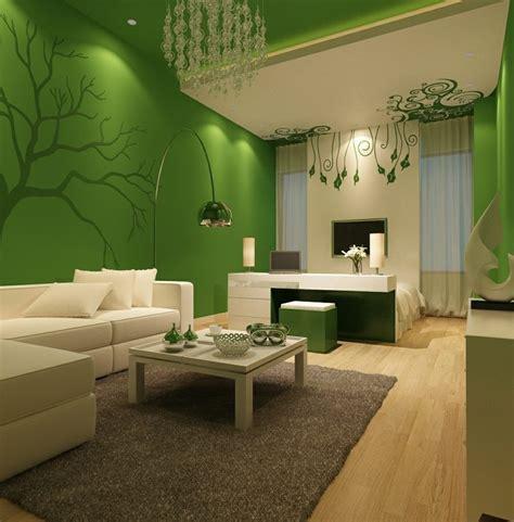 farben fuer wohnzimmer gruen grau teppich kronleuchter