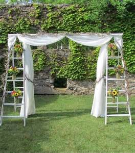 wedding backdrop drapes vintage ladder wedding arch cost effective ideas