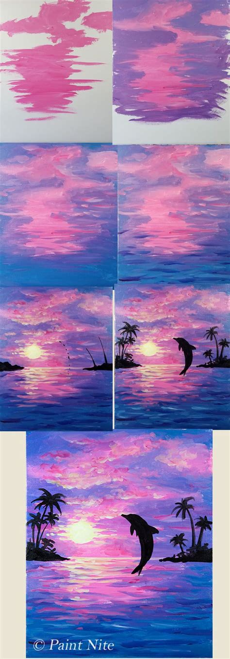 watercolor painting on plexiglass by painting dolphin beginner painting idea