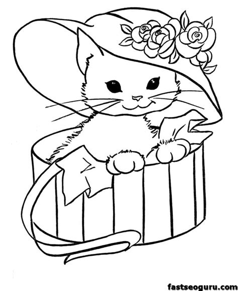 kitty cat coloring pages az coloring pages