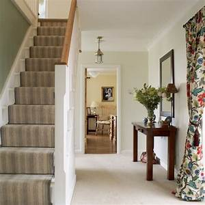 New home interior design country hallway for Interior decor hallways