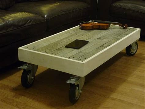 Reclaimed Pallet Coffee Table With Wheels Discount Home Bar Furniture Ebay Singer Catalogues Costco Store Sydney American Country Ashley Delivery