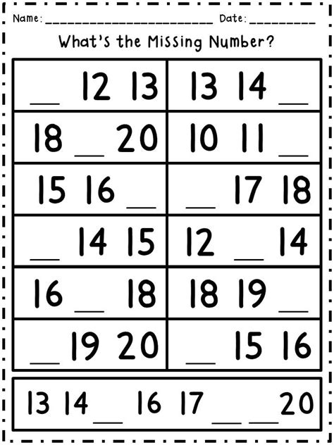 missing number worksheets 11 20 17 best images of count how many 11 20 worksheets how