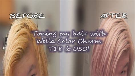 wella color charm 050 toning my hair with wella color charm t18 050