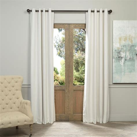 120 Inch White Blackout Curtains by Outdoor