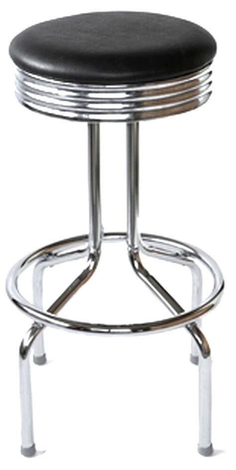1950s Bar Stools Retro Bar Stool 1950s Vintage Diner Style Swivel Chrome