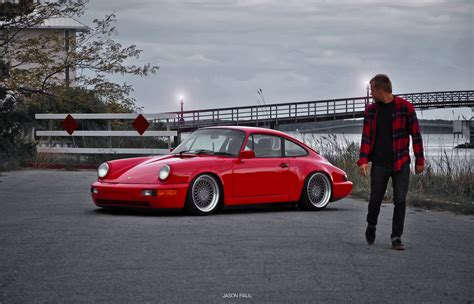 stanced porsche 964 people who ermahgerd is following car throttle