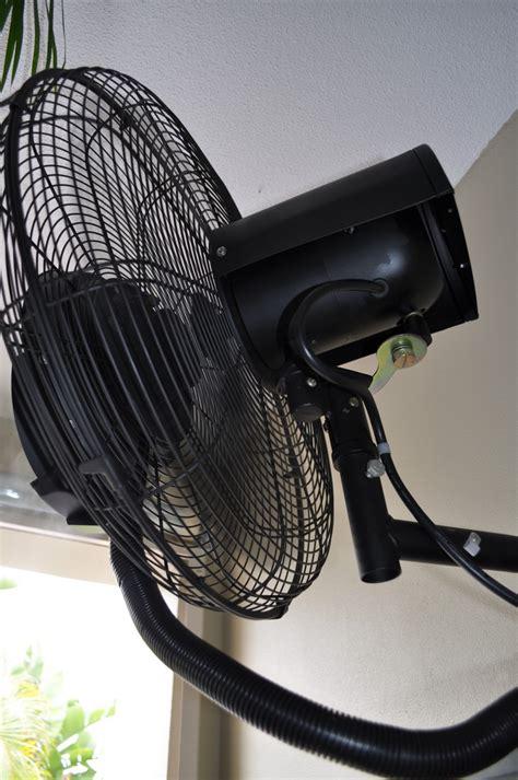 wall mount misting fan misting fans wall mounted tornado 51cm climate australia