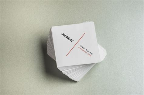 square business card mockup psd file