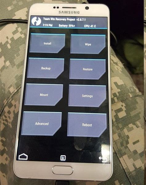 custom recovery android twrp custom recovery for galaxy note 5 running android