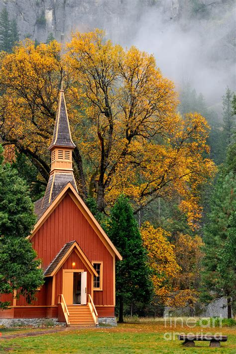yosemite chapel   fall photograph  daniel ryan