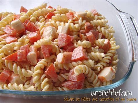 salade de pates crevettes salade de p 226 tes aux crevettes et au surimi une faim