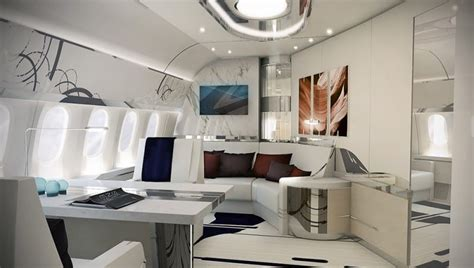 luxury living  private jet interior designs