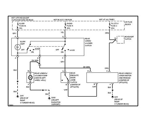 2000 Blazer Wiring Schematic by Wiper Motor Wiring Diagram Impremedia Net