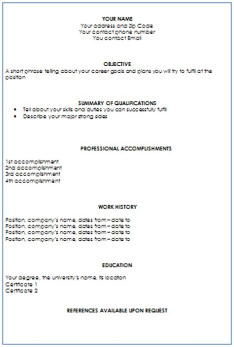 Resume Writing Format by Combination Resume Writing Service