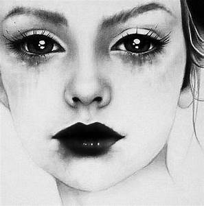 art, black, cry, dark, eyes - image #427813 on Favim.com