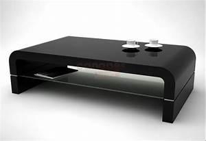 Table Basse Noir : table basse noire pas cher ~ Teatrodelosmanantiales.com Idées de Décoration