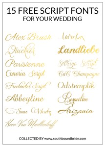 wedding font 15 free script fonts for your wedding southbound
