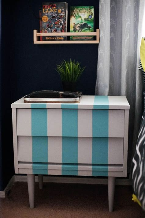 Diy  Striped Nightstand Ikea  Bestter Choices, Bestter